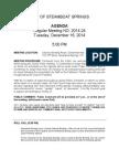 City Council Agenda for Tuesday, December 16