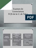 Presentación Examen de Licenciatura 2014