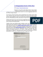 Koneksi Internet Menggunakan Kartu CDMA Flexi