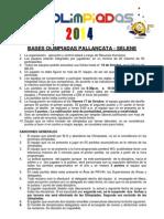 Bases Olimpiadas 2014 - Pallancata y Selene
