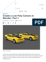 Create a Low Poly Camaro...Otion Graphics Tutorial