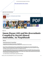 Imam Hasan (as) and His Descendants - Spirit of Islam