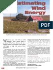 Estimating Wind Energy