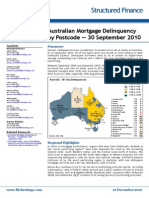 Australian Mortgage Delinquency by Postcode (2010 - September)