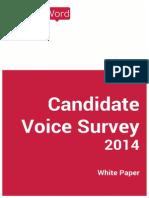 Candidate Voice Survey 2014