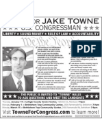 Jake Towne for Congress Newspaper Ad Jan 2010