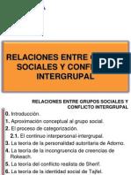 Relaciones Entre Grupos Sociales y Conflicto Intergrupal