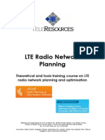 TeleRes LTE Planning Optimisation 2012 November