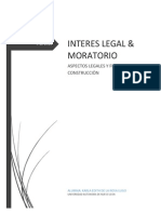 INTERES MORATORIO Y LEGAL