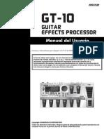 manual procesador boss GT-10