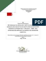 Determinantes sociales e institucionales de la desigualdad educativa en sexto año de educación primaria de Argentina y Urug.pdf