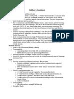 edu 160 fieldwork experience