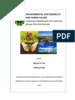 Environmental Sustainability and Human Values