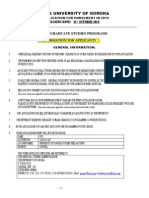 Application Form Postgraduate 2015