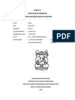 Pengukuran Porositas dengan Metode Liquid Saturation