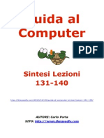 Guida al Computer - Sintesi Lezioni 131-140