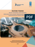 Materi Teknis Revisi Pedoman Penyusunan Rencana Tata Ruang dalam Perspektif Pengurangan Risiko Bencana
