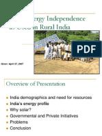 PalnitkarSolarEnergyIndependenceasUsedinRuralIndia.ppt