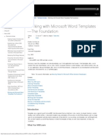 Working With Microsoft Word Templates-The Foundation