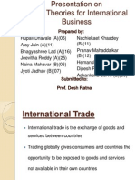 International Trade Theories for IB