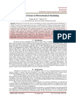 A Review of Issues in Photochemical Machining
