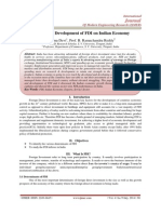 Growth and Development of FDI on Indian Economy