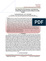 Experimental Investigation of Performance and Emission Characteristics of Simarouba Biodiesel and Its Blends on LHR Engine
