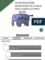 3.- Programación en PHP - Elementos Del Lenguaje