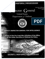 Defense Department's Inspector General's report on Feith's propaganda ministry