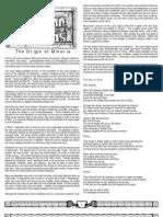 divine right - the origin of minaria