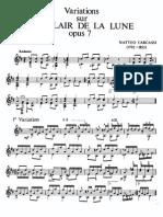 Carcassi, Matteo - Variations Sur 'Au Clair de Lune' Op.7
