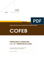 Formulaire COFEB 34e Promotion Bis