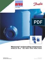 MS Maneurop Refigeration Compressors Spec Sheets