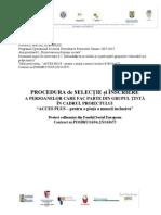 Procedura de Selectie Si Inscriere a Persoanelor Care Fac Parte Din Grupul Tinta - Forma Revizuita