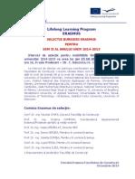 Anunt ERASMUS_ Selectie 2014_Octombrie