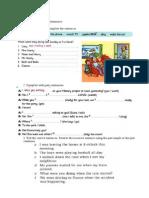 revision de algunos temas en inglés