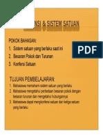 Dimensi Sistem Satuan Ppt