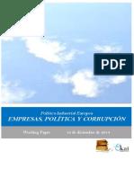 Politica Industrial Europea. EMPRESAS, POLITICA Y CORRUPCION
