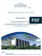 MANAGEMENT des Organizations Culturelles