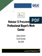 Release 12 Procurement Professional Buyers Work Center