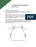 latihan cisco dengan 2 router
