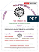 Field Exposure on One Year Post Graduate Diploma in Accountancy (With Computrized Accounts & Taxation )Sudesh Kumar