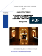 2014-15 Guide Etudiants Echange Entrants
