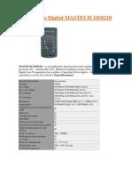 Manual Mastech Ms8218