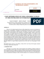 Cost Optimization of Using Geogrids vs Piles in the Foundation of Interchange Bridges