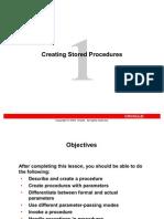 Stored Procedures in Oracle