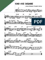 Se Acaso Voce Chegasse - Tenor Saxophone