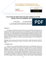 Analysis of Spectrum Based Approach for Detection of Mobile Signals