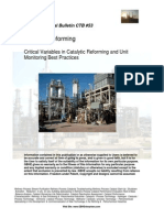 Critical Variable in Catalytic Reforming and Unit Monitoring Best Practices