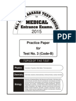 Practice Test-03 of AIATS Medical-2015 (Code-B)